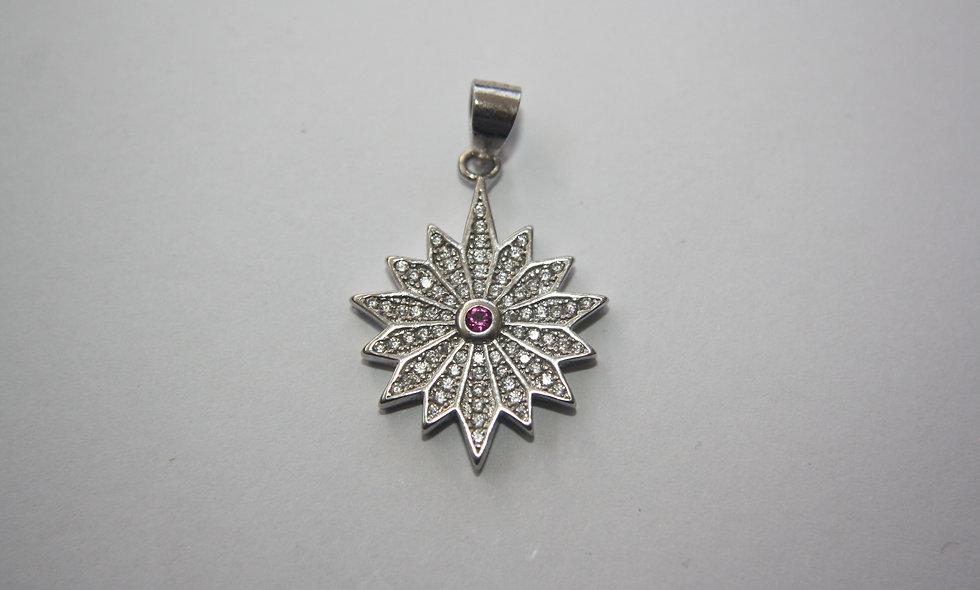 Silver Pendant: Star of the Nativity