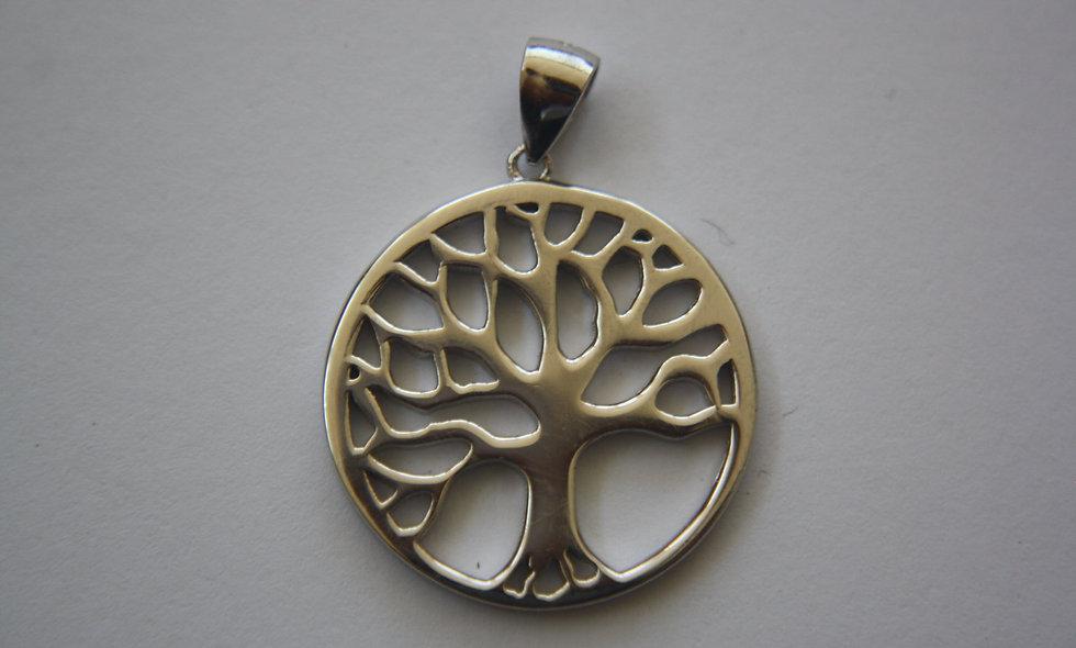 Silver Pendant: Tree Of Life Plain Silver