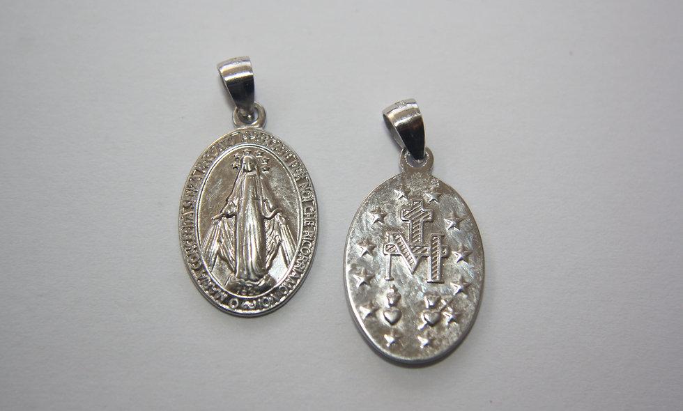 Silver Pendant: Silver Miraculas Medal Pendant
