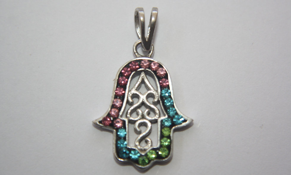 Silver Pendant: Hand of God For Protection