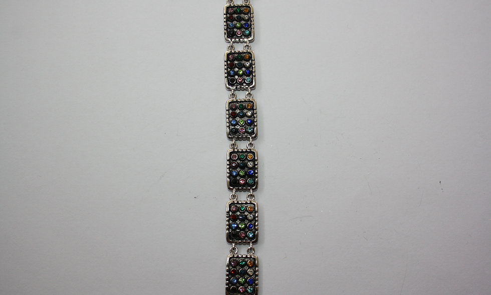 Silver Pendant: The 12 Tibes Of Israel Colored Bracelet