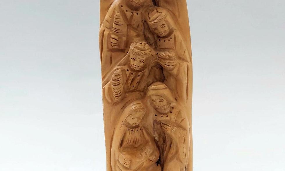 Olive Wood the three Wisemen Visiting Jesus