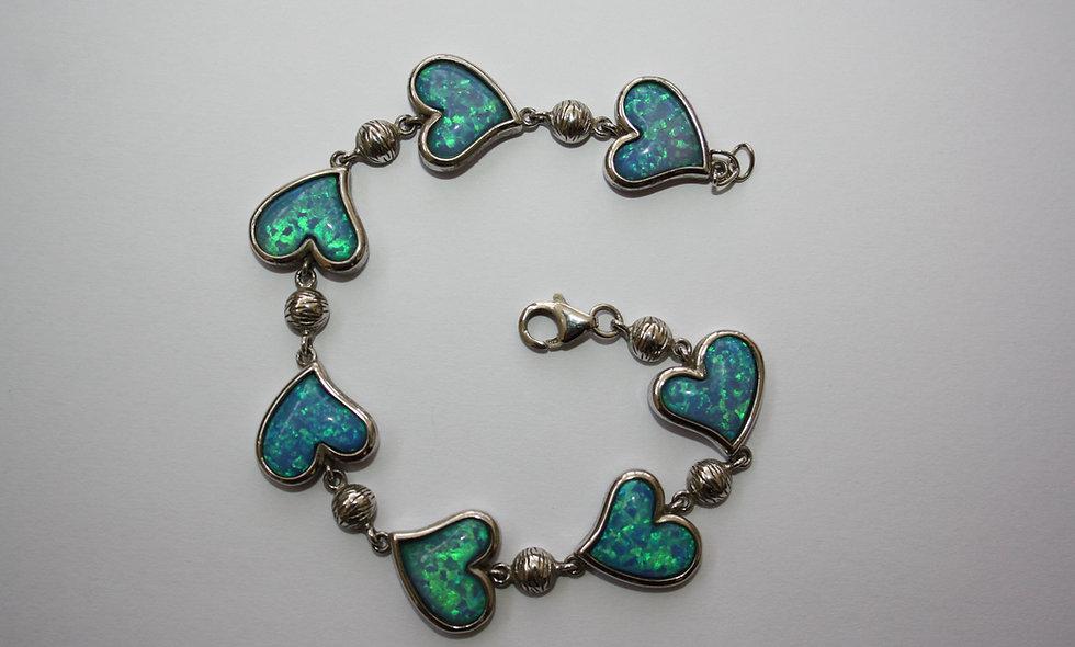 Silver Braclet: Blue Opal Silver Bracelet