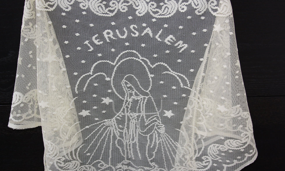 Scarves/ Shawls  :White transperic Vergin Mary