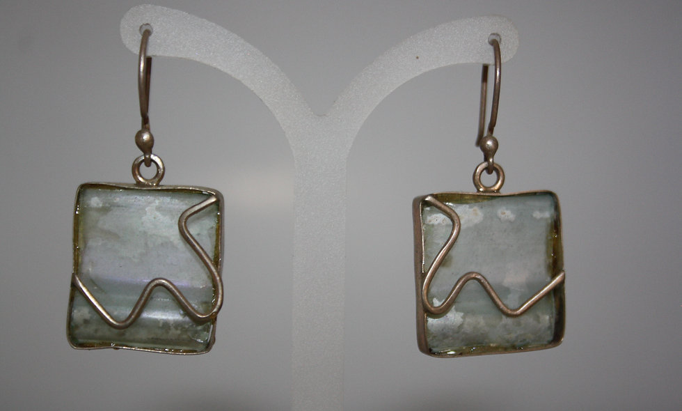 Silver Bracelet: Roman Glass Earing