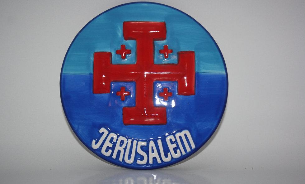 Jerusalem Cross Ceramic on Wall
