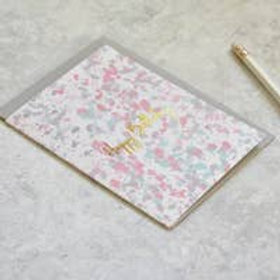 Happy Birthday Gold Foil Pastel Card
