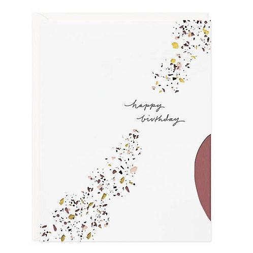 Happy Birthday Terrazzo Card