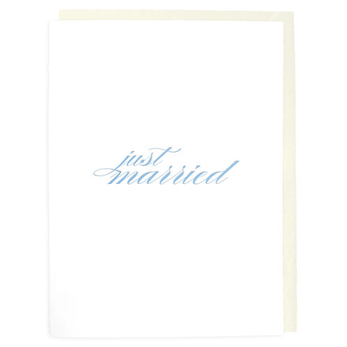 Just Married Letterpress Greeting Card