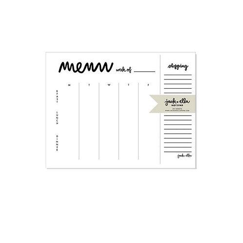 Weekly Menu Plus Tear-off Market List Notepad