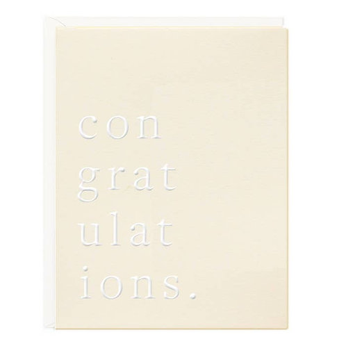Congratulations Chic Greeting Card