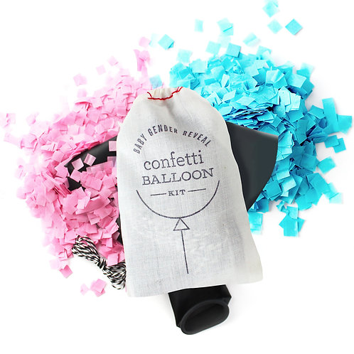 Jumbo Gender Reveal Confetti Ballon Kit
