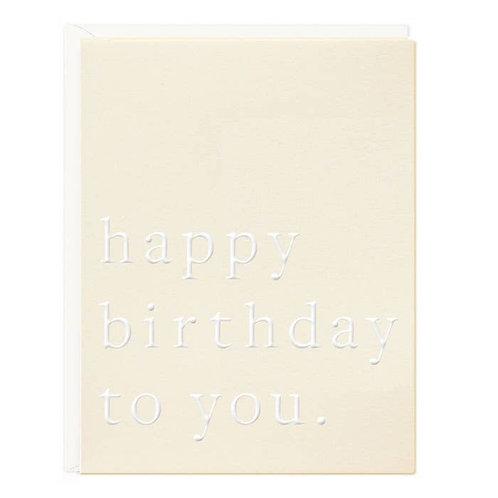 Birthday Chic Greeting Card
