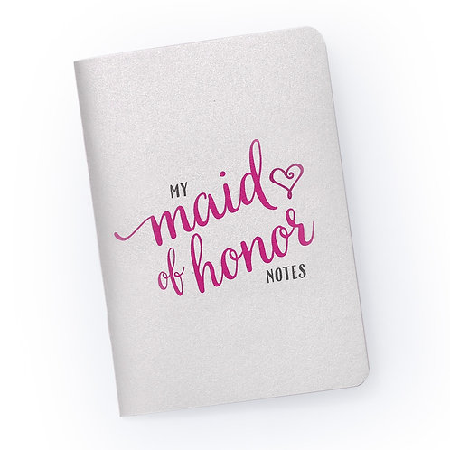 My Maid of Honor Notes - Bridal Party Planning Notebook