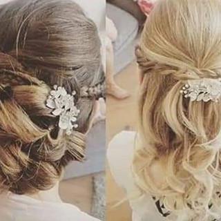 bridesmaid hair, updo and half up and ha