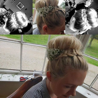 Bridal hair from 2018 ❤ updo with fresh
