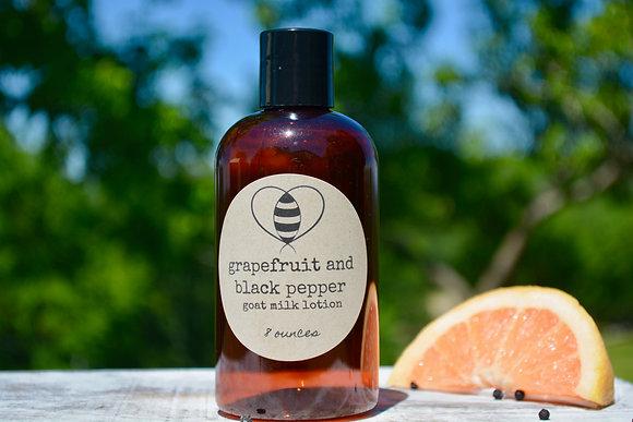Grapefruit & Black Pepper Goat Milk & Honey Lotion