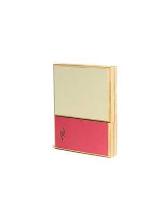 Bicolor Reed Case for Alto saxophone/Bb Clarinet (6 reeds) pink-white