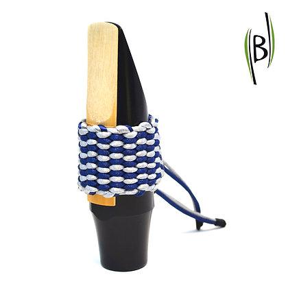 Bicolour String Ligature Bambú (NAVY BLUE-SILVER)