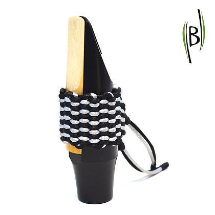 Bicolour String Ligature Bambú (BLACK-SILVER)