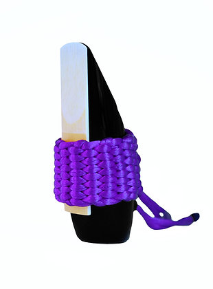 Art.AS11- Bambú's String Ligature for Soprano Saxophone/Eb Clarinet (purple)