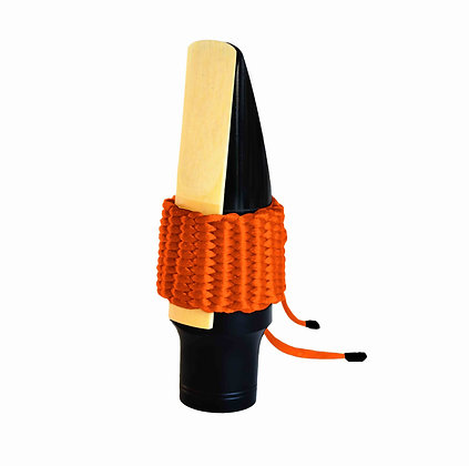 Art.AT06- Bambú's String Ligature for Tenor Saxophone (Orange)