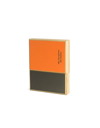 Bicolor Reed Case for Alto saxophone/Bb Clarinet (6 reeds) orange - grey