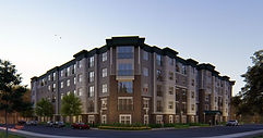 Apartment building using A9 Green energy consulting and HERS rating.