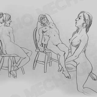 3 minute Live Drawings