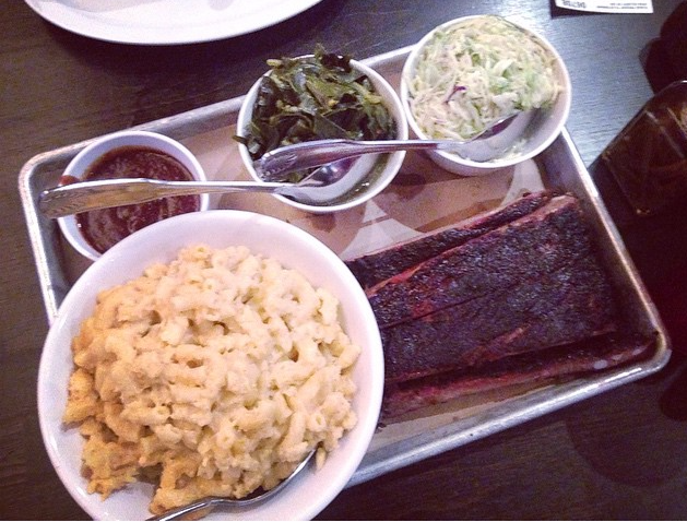 Ribs, Mac, Greens & Ribs