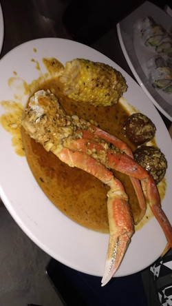 Boiling Special Crab Legs