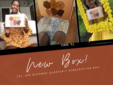 New box! | Preorder now through 10/26 | Yet, she bloomed subscription box