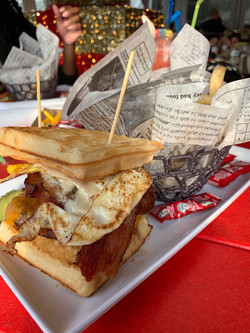 Waffle Breakfast Burger