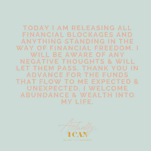 I welcome abundance & wealth!