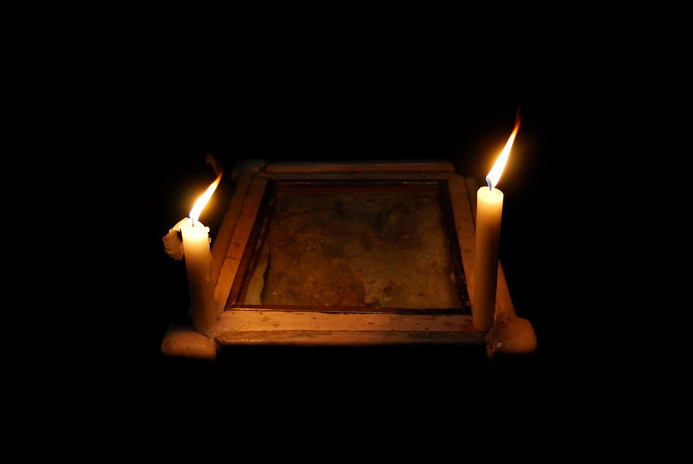 Santo Sepolcro, pietra dell'angelo.jpg