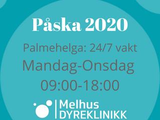 Åpningstider Påska 2020