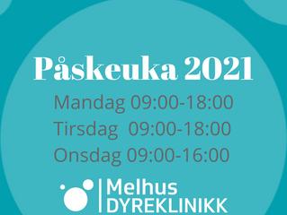 Åpningstider Påska 2021