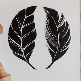 Leaf & Feather Print