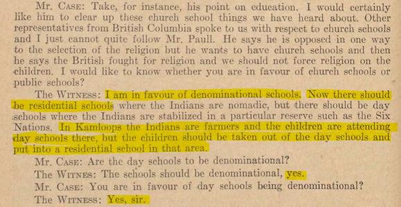 Andrew Paull... 1947... REMOVE CHILDREN... best education christianity... fascism...  part