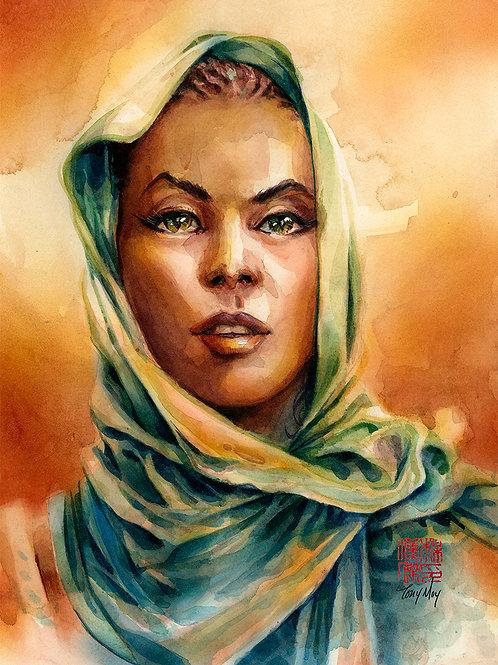 Eyes of Bastet - 9x12 - Watercolor Original Art