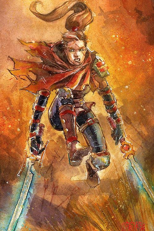 Artober 2020 - Leap - Original Watercolor Art