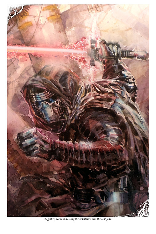 Kylo Ren - Standard Watercolor Print
