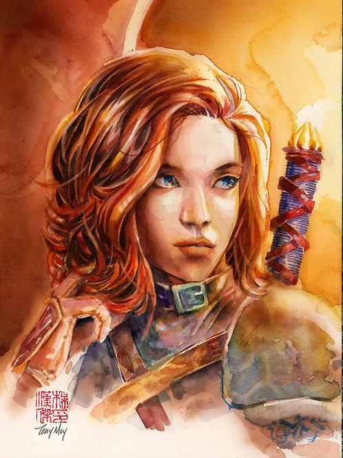 Knight Errant - Watercolor Original Art - 9x12