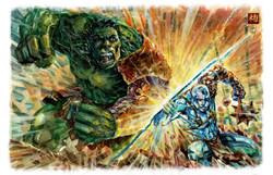 Planet Hulk vs. Savage Surfer