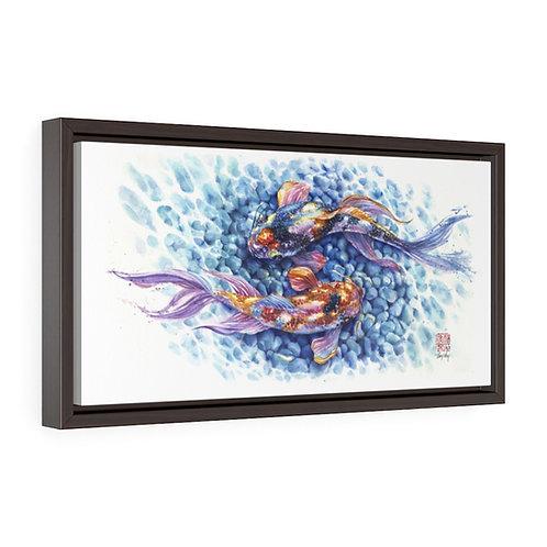 Piscean Koi - Watercolor Framed Print