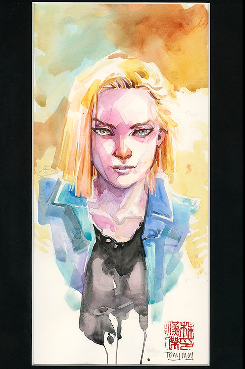 Android 18 - DBZ - Original Watercolor Art