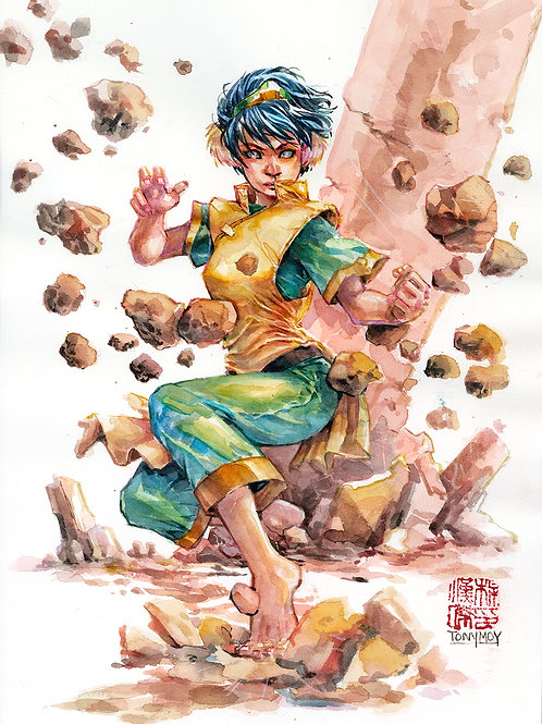 Toph Beifong - The Earth Bender -  Specialty Watercolor Print