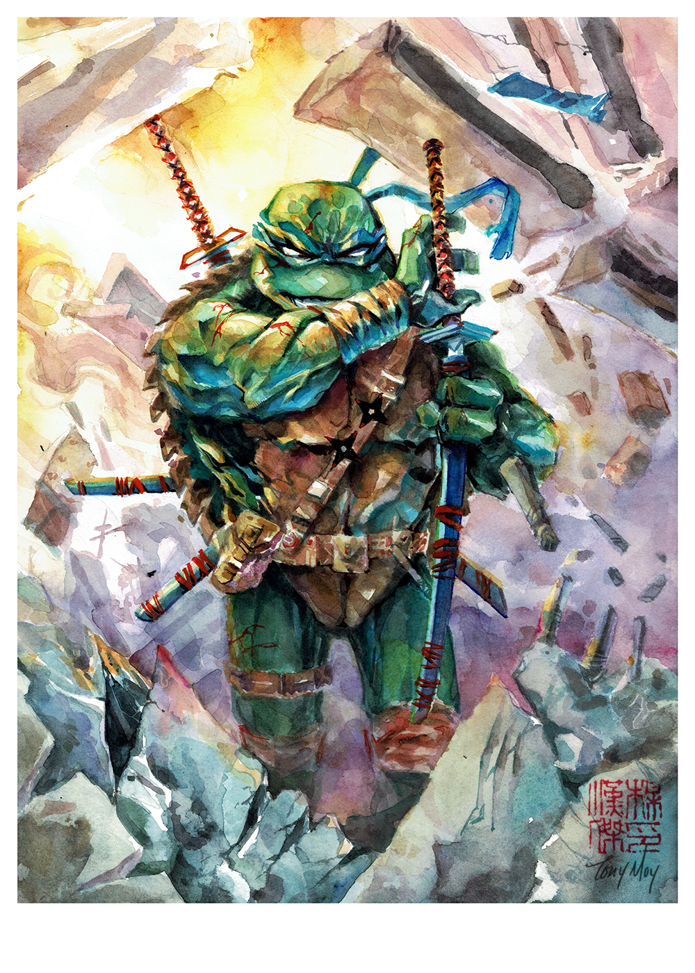 Leonardo TMNT in Watercolor