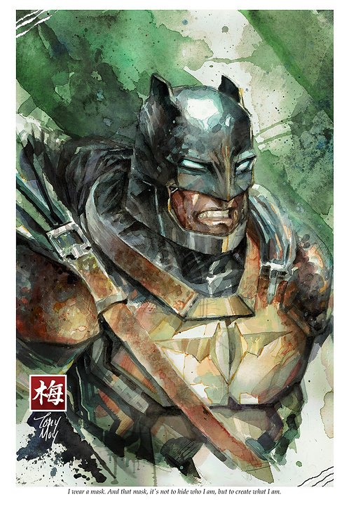 Batman - Standard Watercolor Print