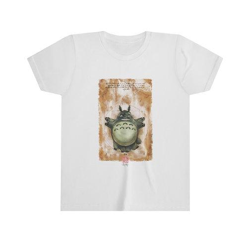 Vitruvian Totoro Watercolor - Youth Short Sleeve Tee